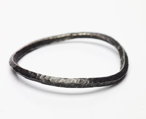 Sterling Silver Thick Twist Bangle