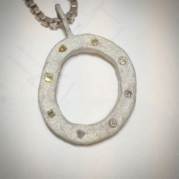Sterling Silver Large Circle of Life Pendant