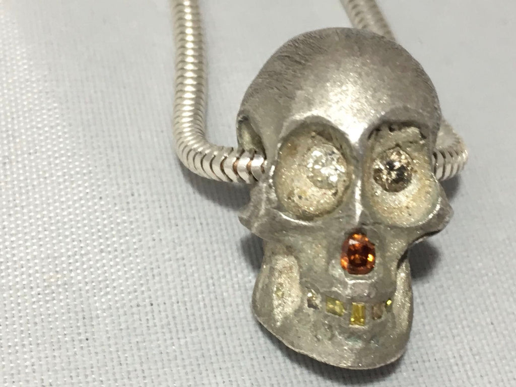 Felix - Diamond Encrusted Skull Necklace