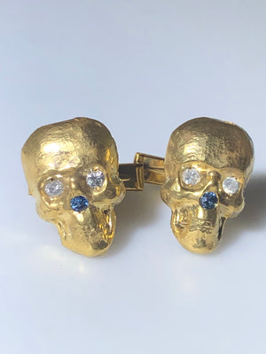 14K Gold Skully Cufflinks