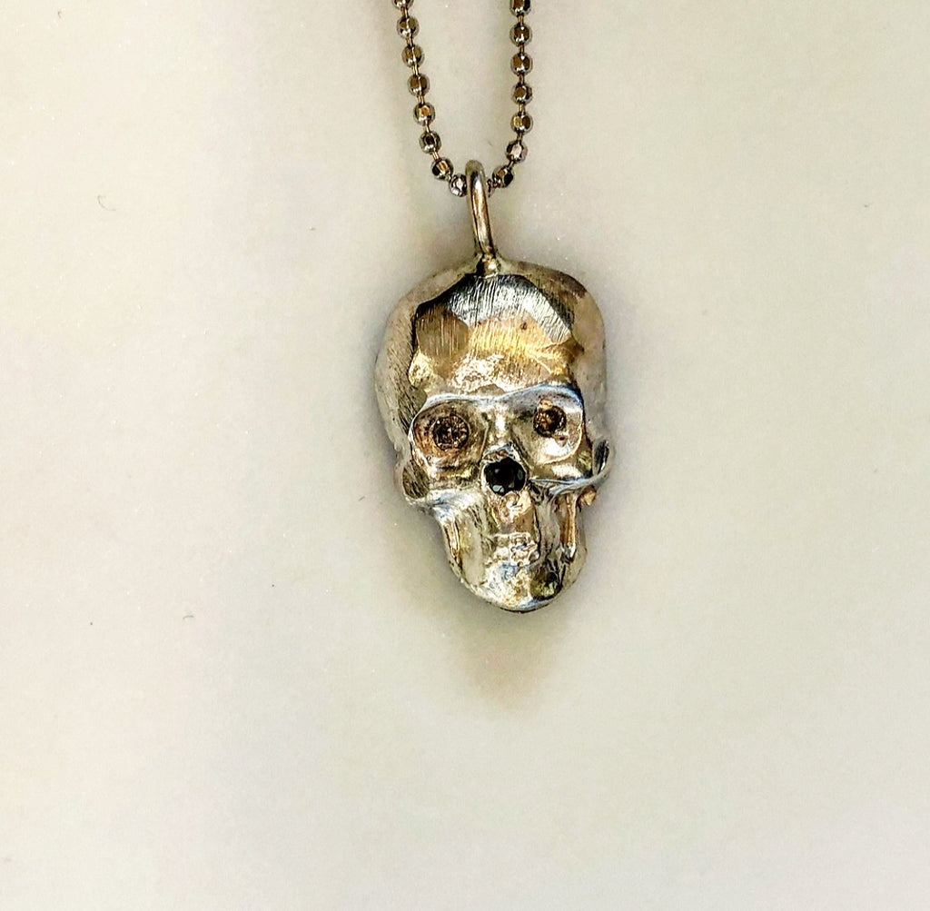 Sterling Skully Pendant