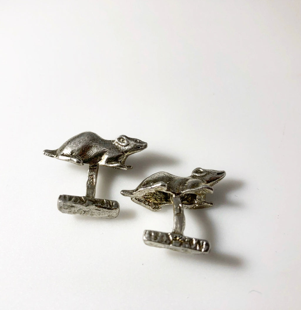 Sterling Silver Animal Cufflinks