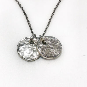 Sterling Silver Double Disk Pendant