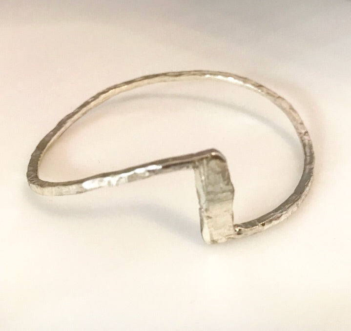 Sterling Silver Single Step Cuff