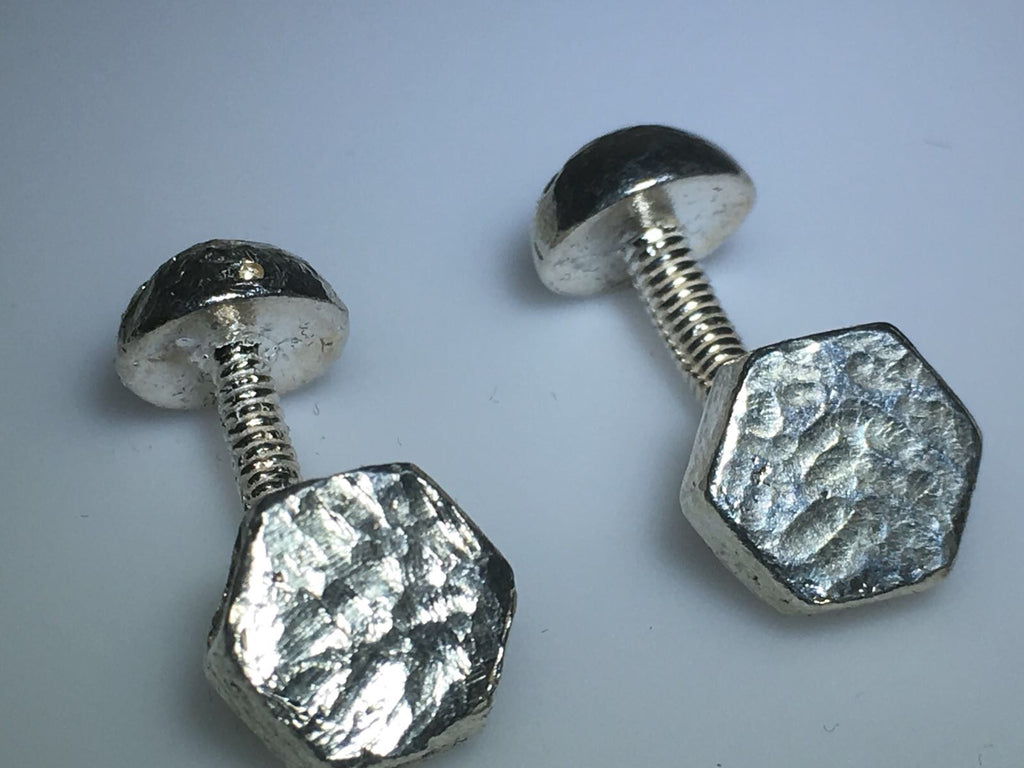 Sterling Silver Screw Cufflinks