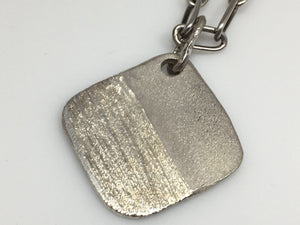 Sterling Silver 2 Faced Square Dog Tag