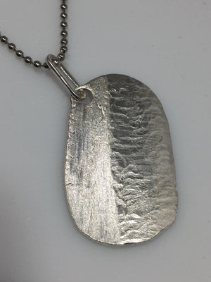 Sterling Silver 2 Faced Diamond Dogtag