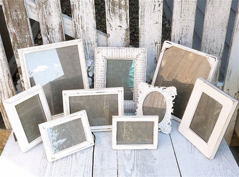 Antique White Picture Frames - Set of 10 Painted Shabby Chic Picture ...