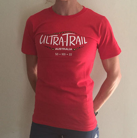 Cotton UTA RED T-shirt - WOMEN'S
