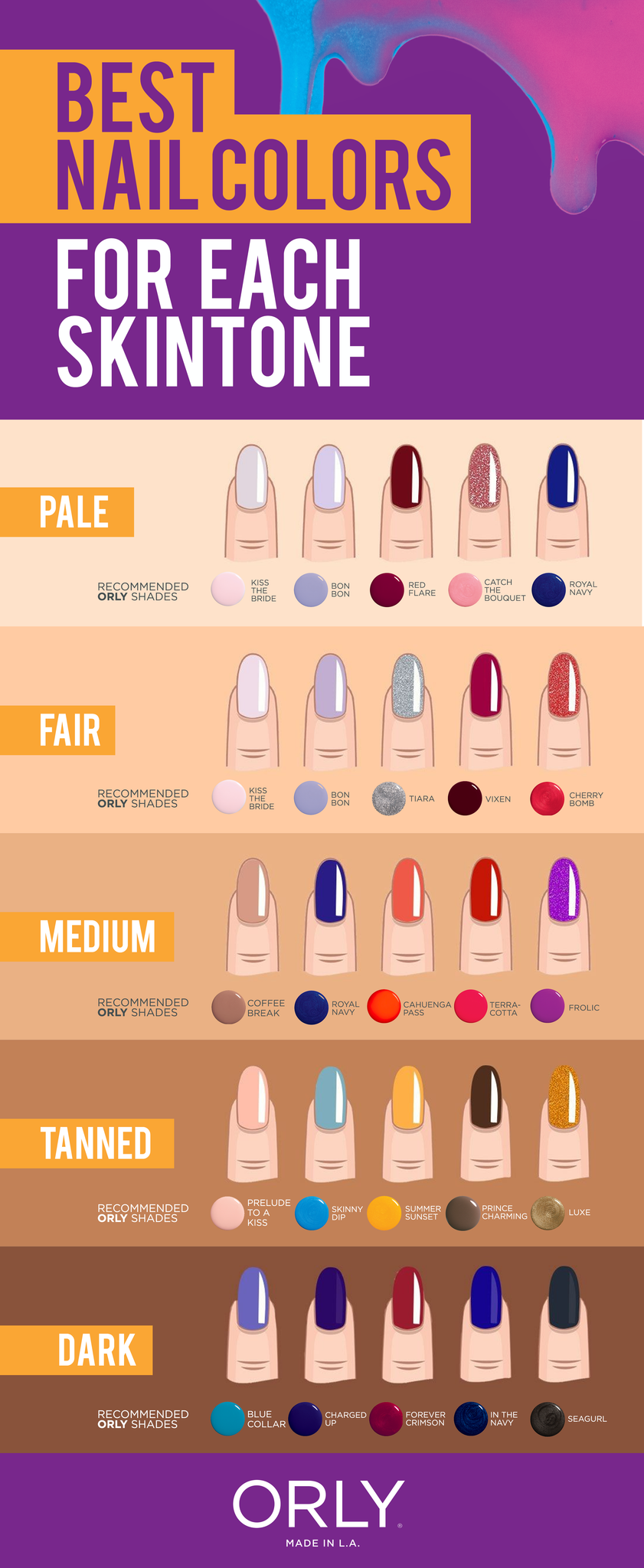 Orly Tips Best Nail Colors For Each Skin Tone