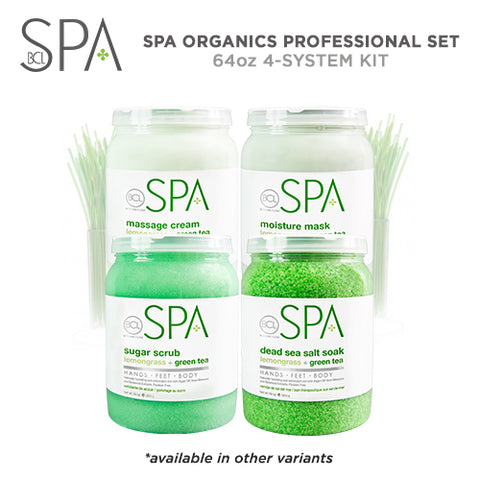 Spa Organics 4-System Kit Professional Set - Lemongrass + Green Tea 64oz ( ₱14,600 Value )