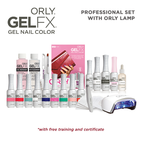 Orly GELFX Professional Set w/ Orly Lamp ( ₱32,020.75 Value )