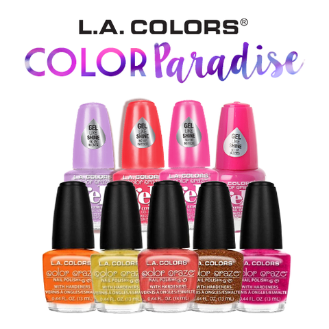 L.A. Colors Paradise Color ( 9 pcs of Nail Polish for ₱ 899.00 )