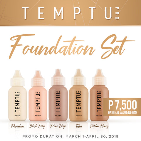 Temptu Foundation Set (₱8,375 Value)