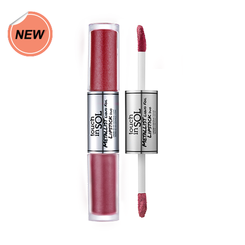 Touch in Sol Metallist Liquid Foil Lipstick Duo #8 Rosie