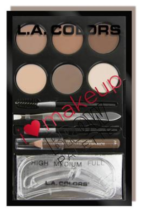 L.A. Colors I Heart Make Up Brow Palette Light/Medium