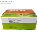 Cevit Ascorbic Acid 500mg Box - 100 Tablets