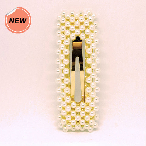 Probeauty Hair Clip Pearl Rectangle