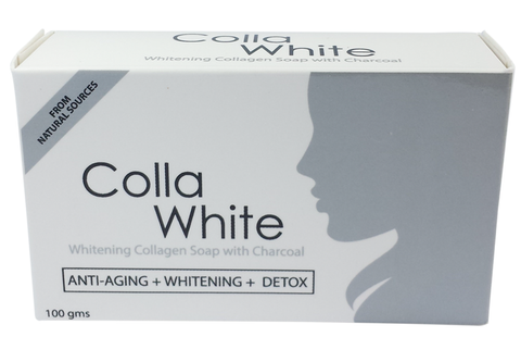 Colla White Whitening Collagen Soap with Charcoal 100gms