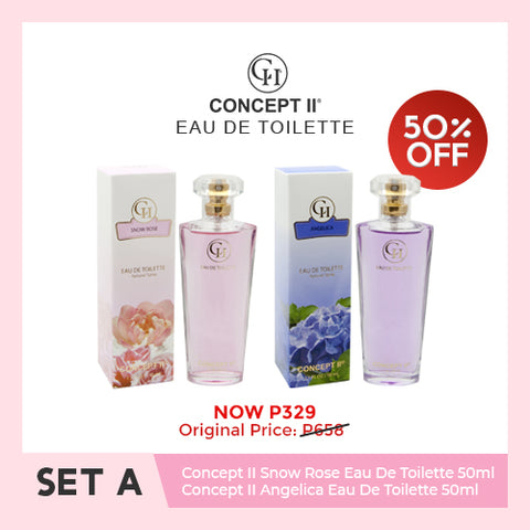 Concept II Eau de Toilette Set A - Snow Rose & Angelica