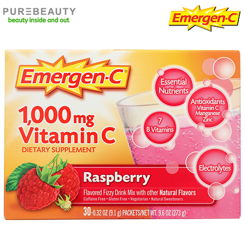 Emergen-C Vitamin C 1000mg Powder Raspberry Flavor