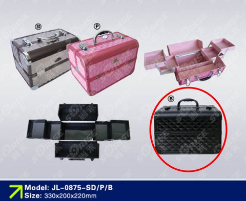 SoRise Aluminium Make-Up Case JL-0875-B