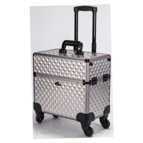 SoRise Aluminum Trolley Makeup Case