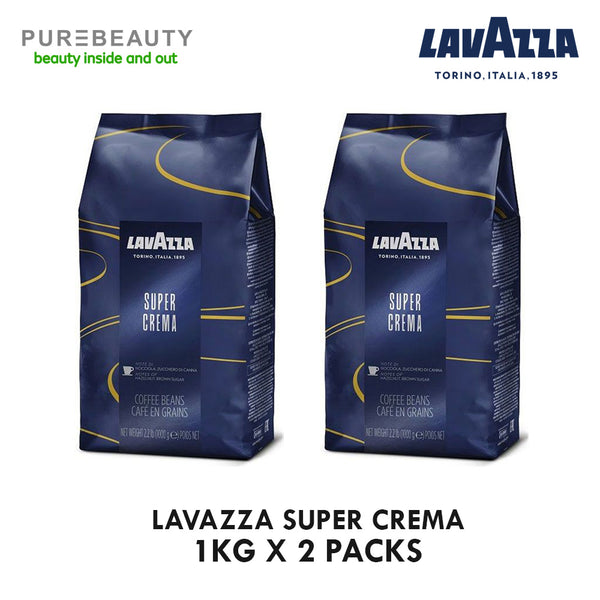 Lavazza Super Crema 1kg- Pack of 2, Italy