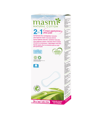 MASMI 2 in 1 Maxi Plus Pantyliner Ultra (24pcs)