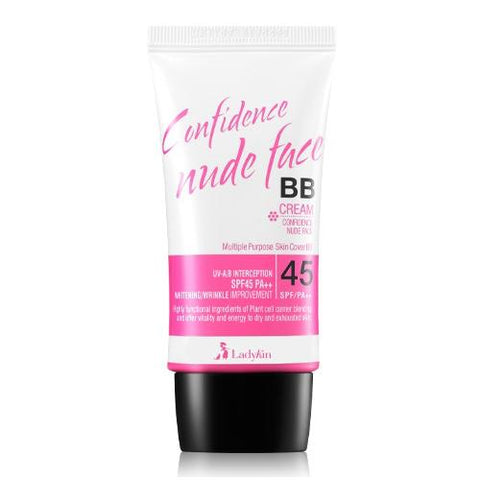 Ladykin Confidence Nude Face BB Cream SPF45 No. 2 Yellow Beige