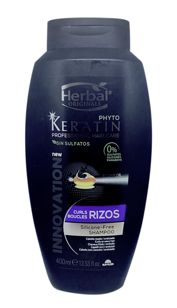 Herbal Phyto Keratin Rizos Shampoo 400ml