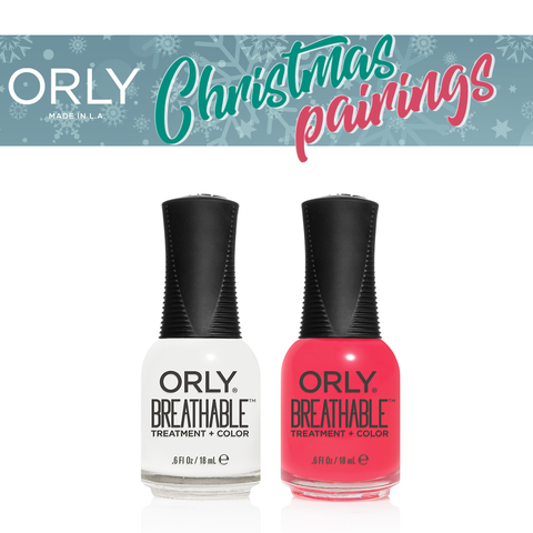 Orly Christmas Pairing Breathable – White Tips + Pep in your Step