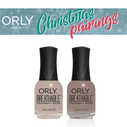 Orly Christmas Pairing Breathable – Manuka me Crazy + Almond Milk