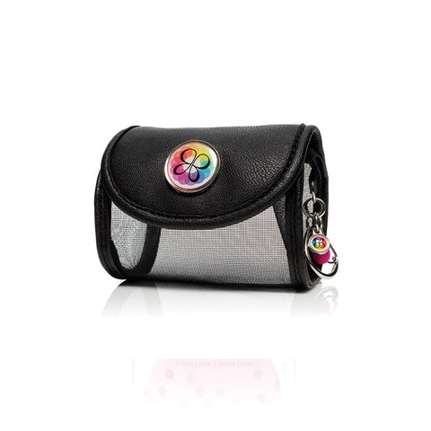 BeautyBlender Pro Air.port Black Mesh Bag With Charm And Clip In Cylinder