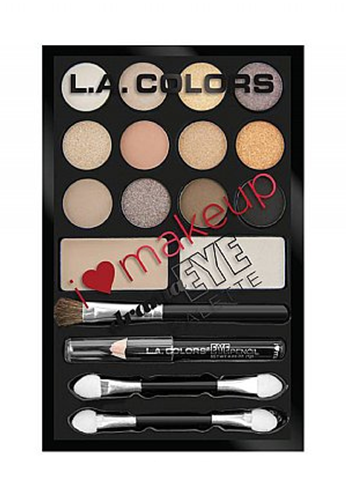 L.A. Colors I Heart Make Up Drama Eye Palette Darling Nude