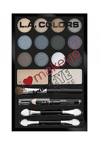 L.A. Colors I Heart Make Up Drama Eye Palette Daring Smokey