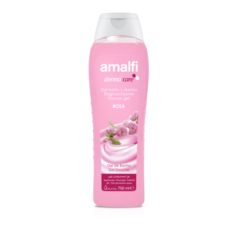 Amalfi Bath and Shower Gel Gentle Rose 750 ml