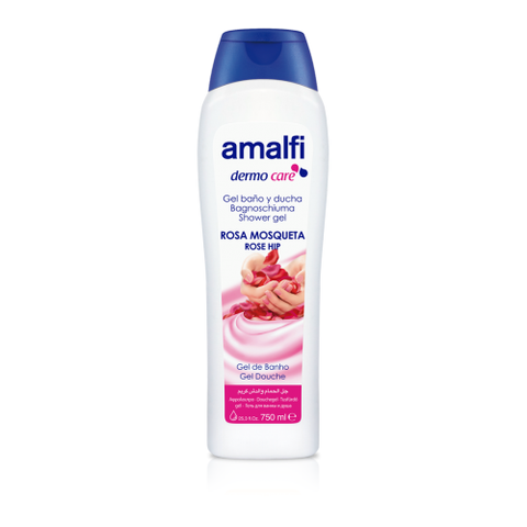 Amalfi Bath and Shower Gel Wild Rose 750 ml