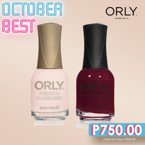 Orly October Best Pink Nude + Ruby