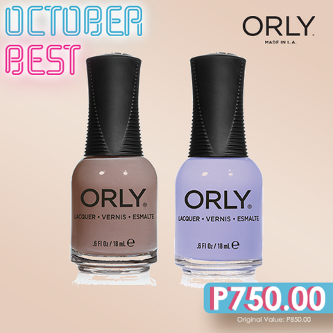 Orly October Best Country Club Khaki + Bon Bon