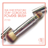 Ellana Dual Head Retractable Stay Gorgeous Powder Brush