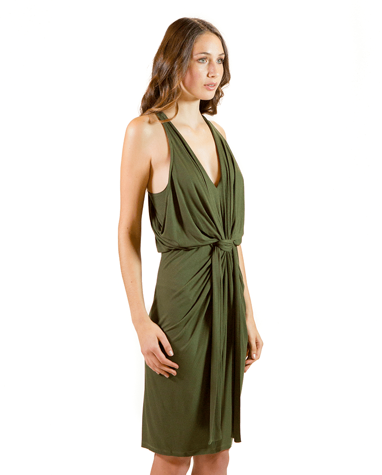 Draped & Knotted Tank Dress