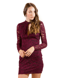 Lush Key Hole Cutout Lace Dress