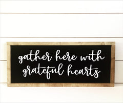 Grateful Hearts Sign