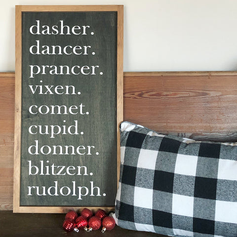Reindeer List Sign