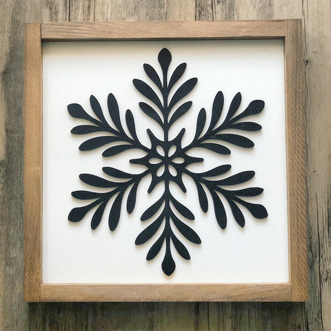 3D Snowflake Sign