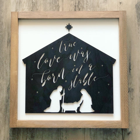 3D Nativity Scene Sign