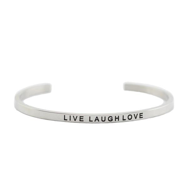 Live Laugh Love Inspirational Bracelet
