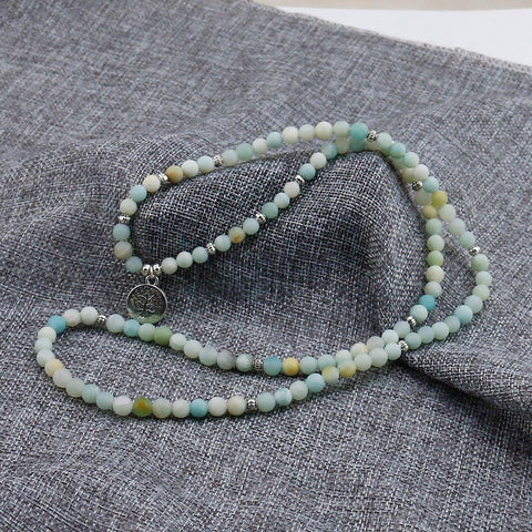 Amazonite Tree of Life Energy Meditation Mala Beads - 4L-Creative