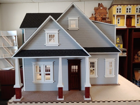 Clarkson Craftsman Cottage Dollhouse Kit